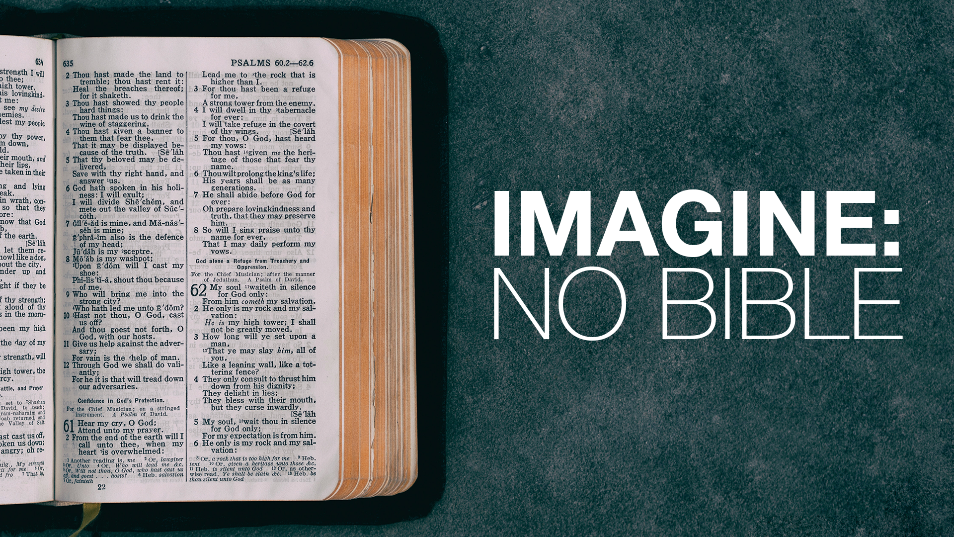 Imagine: No Bible